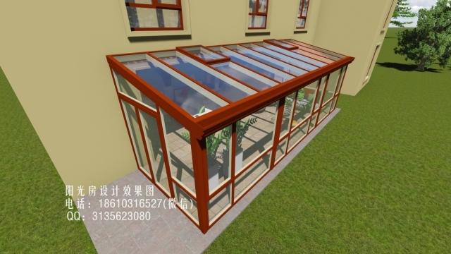 庭院单坡阳光房设计效果图