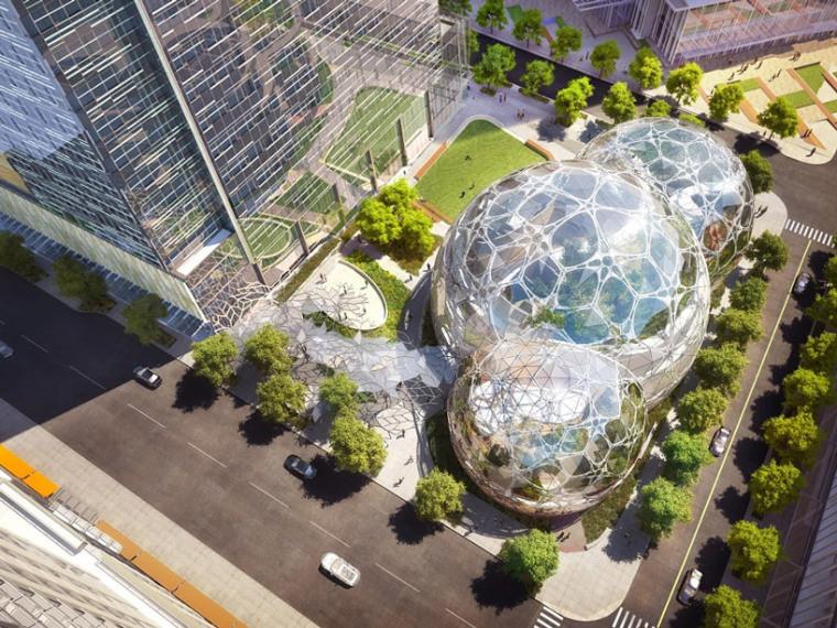 美国新球形办公空间景观