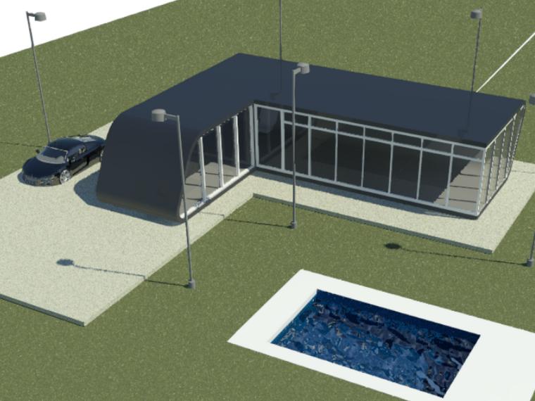 BIM模型-revit模型-创意小房子
