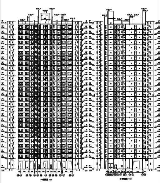 [浙江]17栋住宅建筑设计方案图(含地下室等专业图纸)