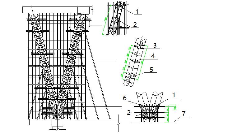 """现浇钢筋混凝土""""V""""型圆柱施工工法"""