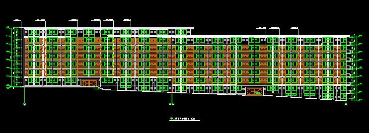 七层框架结构塔式学生公寓E栋施工图