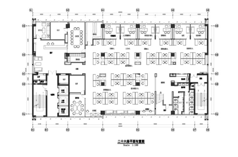 现代风格办公楼设计施工图(附效果图)