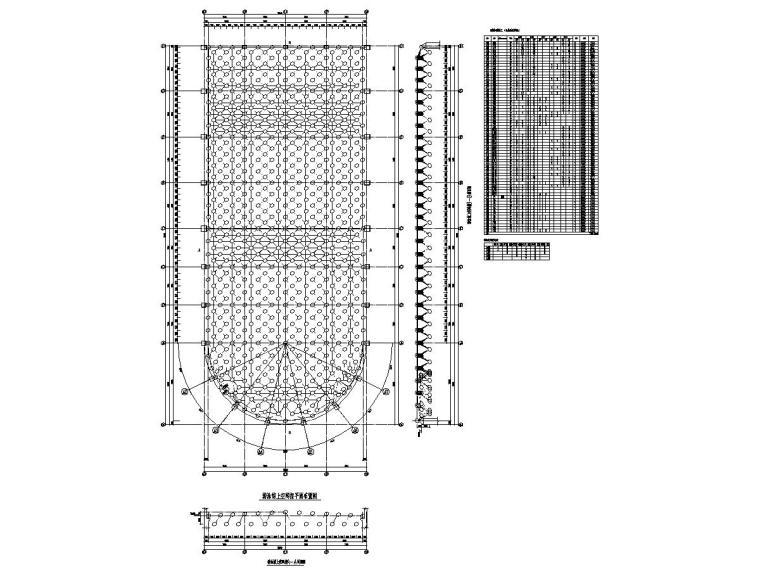 游泳馆钢结构网架结构施工图