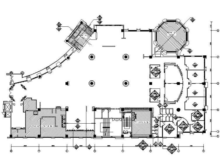 [北京]独具特色奢华主题餐厅室内设计施工图(含效果图)