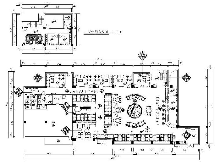 [武汉]浪漫优雅主题咖啡厅室内设计施工图
