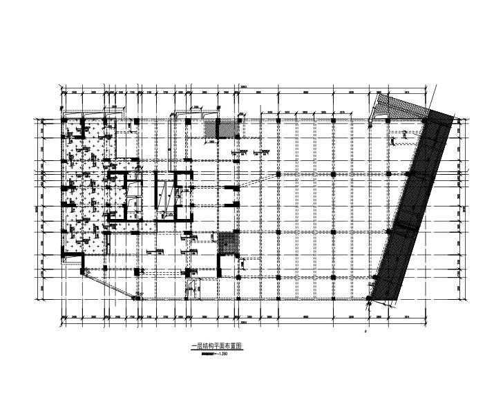 25层框架剪力墙结构综合楼建筑结构施工图