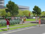 [江苏]绿色立体化金融商务街区绿地景观设计方案