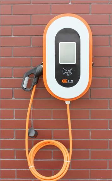 电动新能源汽车挂壁式交流充电桩单枪