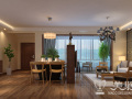 亚太明珠现代简约四居室,8万打造优雅木质自然空间