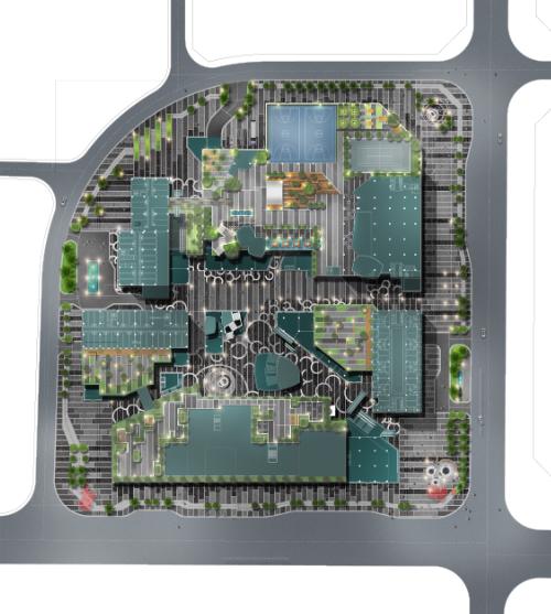 景观平面图|屋顶花园PSD彩色平面图素材(3)