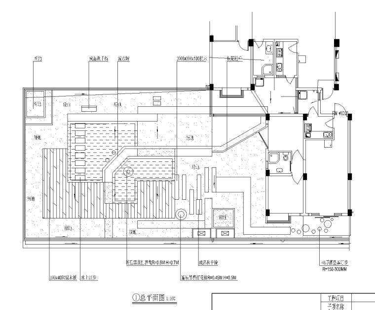 21套屋顶花园CAD施工图(13)