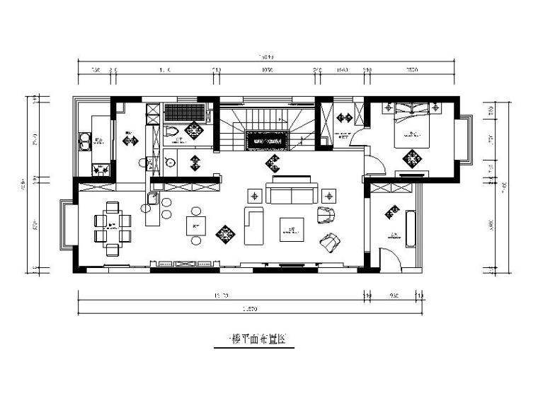 [山西]美式风格跃层公寓设计CAD施工图(含效果图)