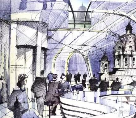 百年经典建筑设计手绘图_54