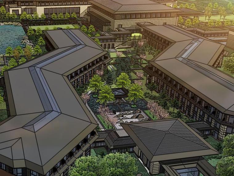 [宁夏]银川迎宾馆公共区域景观方案设计(现代汉唐风格,婚庆)