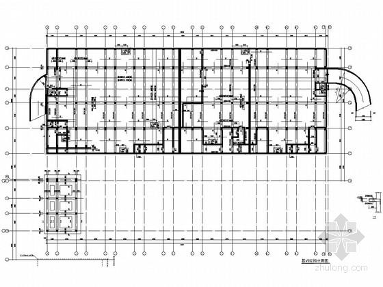 [南京]两层大跨度框架结构艺术学院设计车间结构施工图