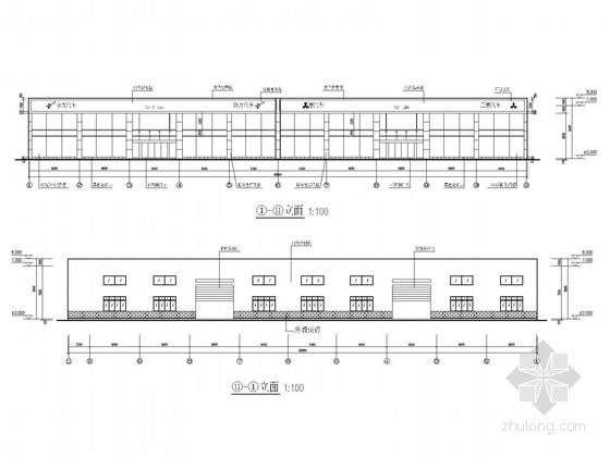 汽车4S店及二期综合楼钢结构施工图(含建施)