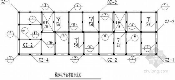 高层结构构造柱节点构造详图