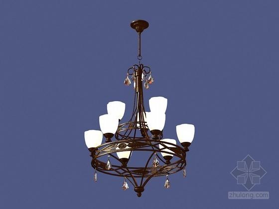 古典欧式吊灯3D模型下载