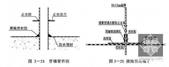 [江苏]逆作法地铁双柱三跨框架车站施工组织设计166页(高压旋喷桩复合挡土墙)-穿墙管防水