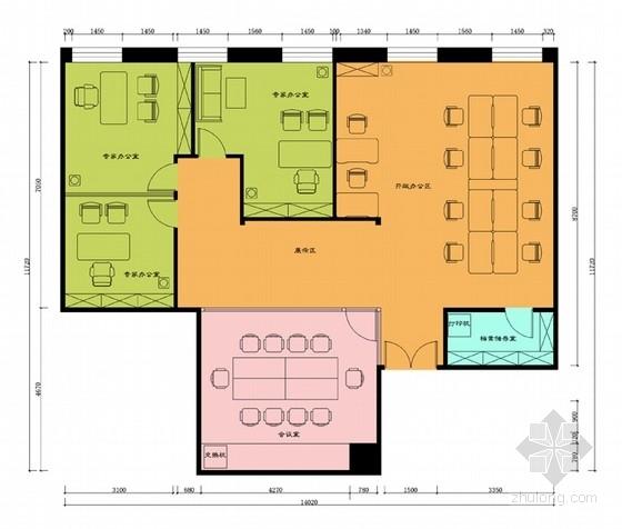 [北京]国有骨干企业现代简约风格办公室精装修设计方案