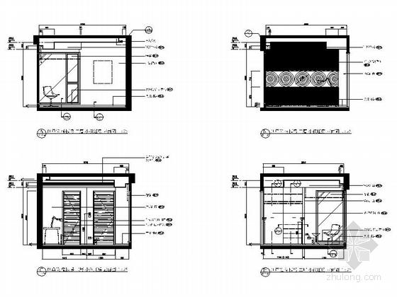 [上海]精品现代大气三层小别墅施工图小孩睡房