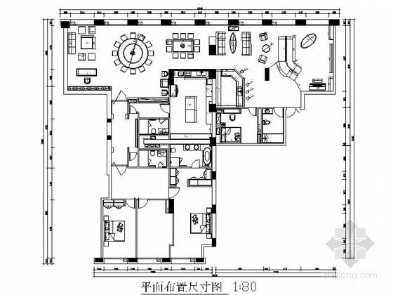 [北京]典雅新中式风格两居室样板间装修施工图(含效果)