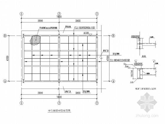 水中墩钢结构平台设计图
