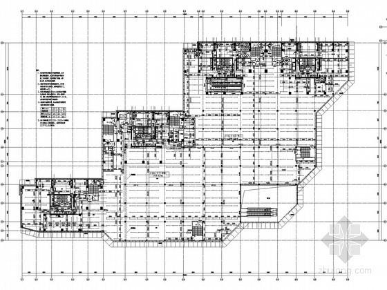 [广东]10万平架空花园式商住楼给排水图纸(气溶胶灭火 雨水收集回用处理)