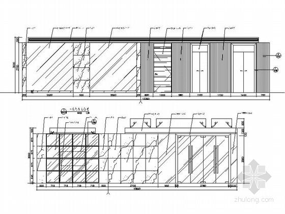 [杭州]社区综合性医疗卫生服务中心室内装修设计施工图(含效果)大厅立面图