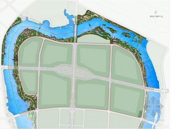 [广东]滨湖生态休闲综合性环状公园景观规划设计方案