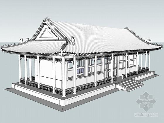 中式古建筑SketchUp模型下载