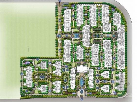 [上海]法式园林风情住宅小区景观方案设计