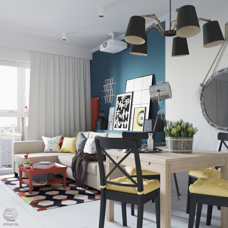 明斯克:丰富有趣的公寓改造_3