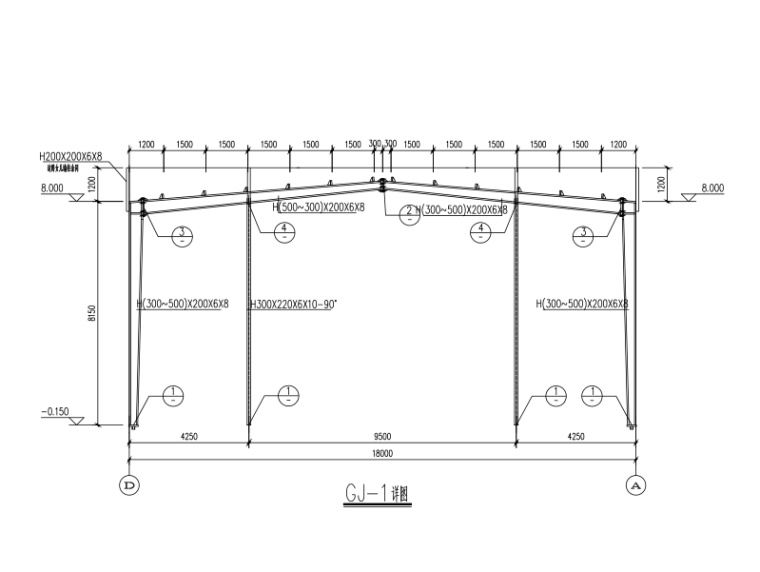 18m跨8m开间标准厂房施工图