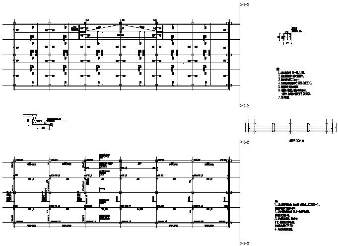 车间现浇框架结构施工图(CAD,14张)