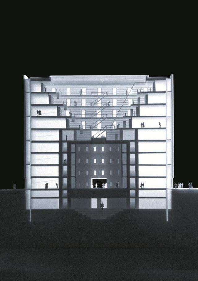 剖面图-德国斯图尔特城市图书馆第3张图片
