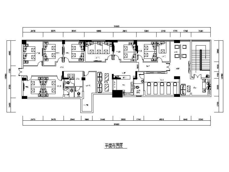 现代简约风格的大型理发会所设计施工图(含效果图)
