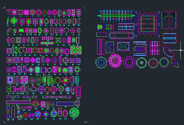 [超全]300款CAD天花吊顶图