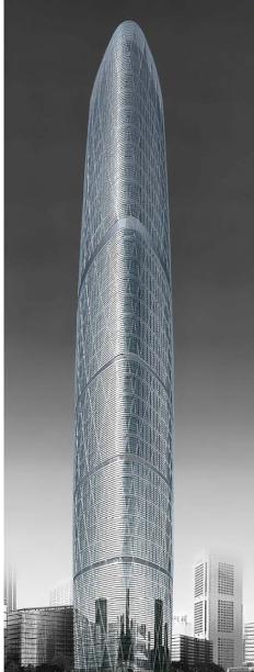 广州珠江新城西塔四季酒店设计方案——HBA