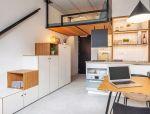悬吊式卧室,书柜式阶梯,都是小空间好招数!