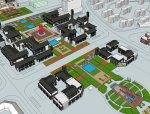 东方新古典4层中式旅游建筑商业街(su模型)