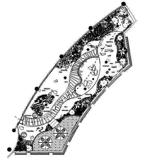 上海某会所屋顶花园景观绿化设计图