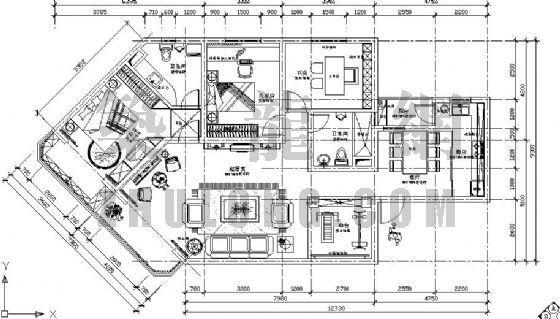 欧式三室两厅两卫装修图下载