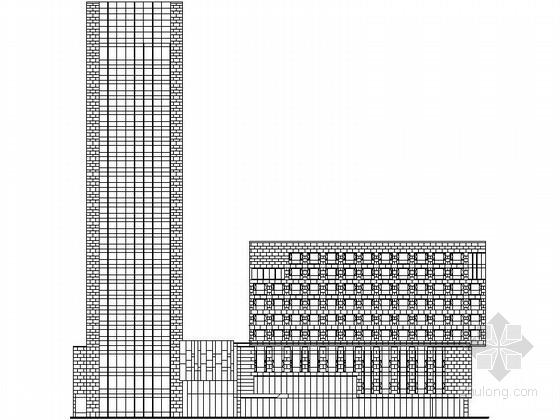 [上海]某开发区二十二层商业综合楼建筑施工图