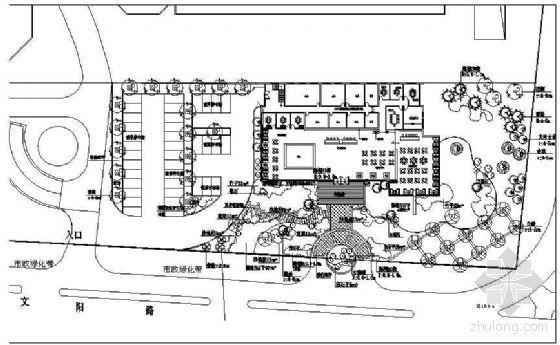 [青岛]某房地产售楼处周边景观设计施工图