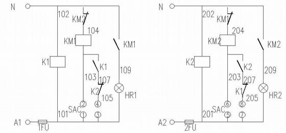 双电源转换控制原理图