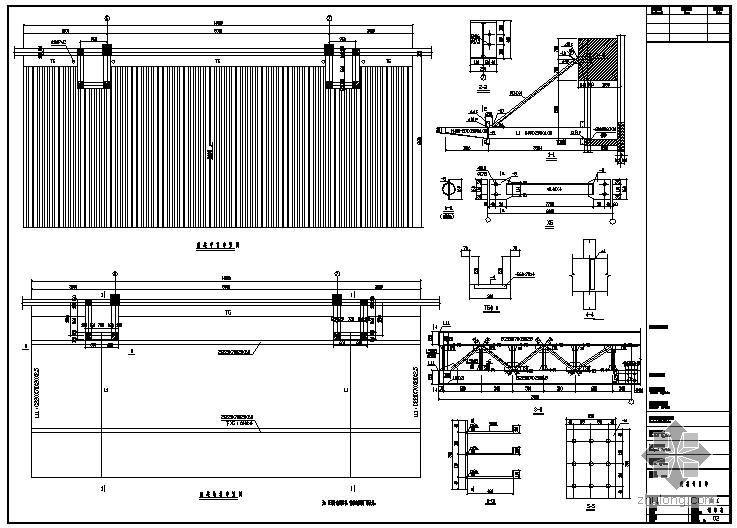 某钢结构雨棚节点构造详图(1)