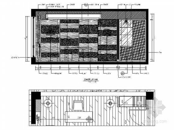[福建]产权式时尚现代四层别墅样板房装修图卧室立面图