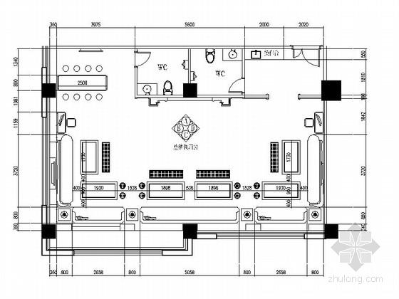 精装豪华商务会所总统包厢装修施工图
